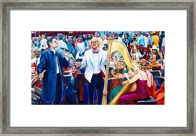 B07. The Singer And Conductor Framed Print