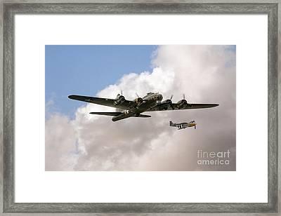 B17 And P51 Framed Print by J Biggadike