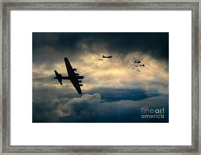 B17 Battle Damage Framed Print