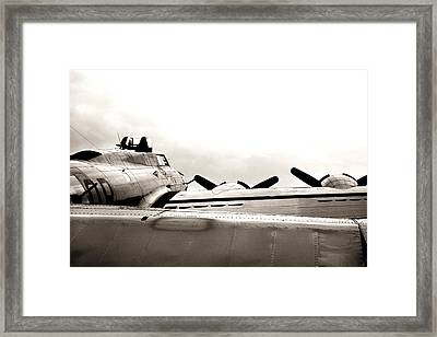 B17 Bomber Wing From Ww II Framed Print