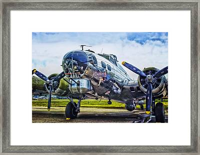 B17 Bomber Yankee Lady Framed Print by Thomas Woolworth