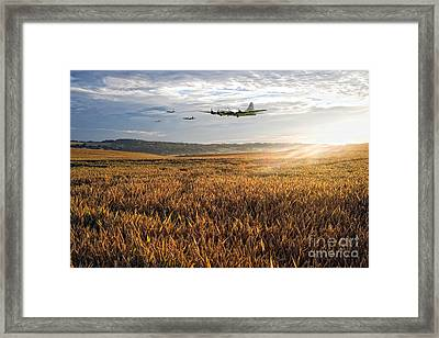 B17 Daylight Raid  Framed Print