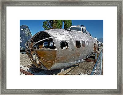 B17 Derelict Airplane - 01 Framed Print by Gregory Dyer