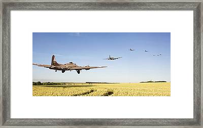B17 -the Ripening Harvest Framed Print by Pat Speirs