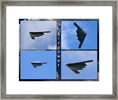 Framed Print featuring the photograph B2 Stealth Bomber by John Freidenberg