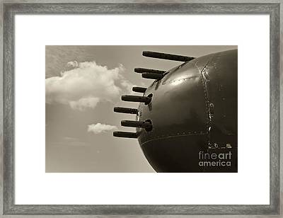 B25 Mitchell Bomber Airplane Nose Guns Framed Print