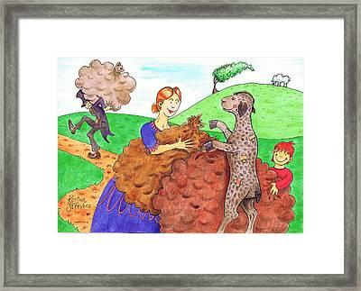 Baa Baa Black Sheep Framed Print