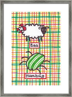 Baa Humbug Framed Print by Julie  Hutchinson
