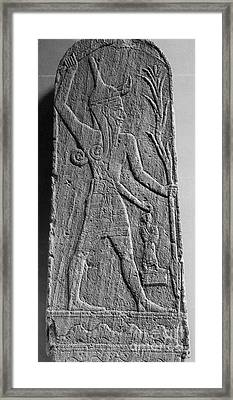 Baal, Ancient God Of Rain And Thunder Framed Print by Science Source