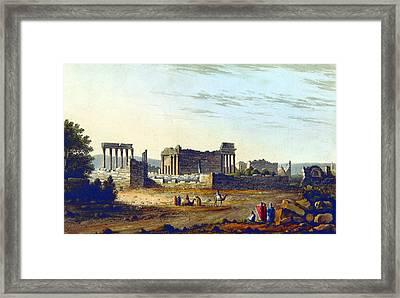 Baalbek Aka Heliopolis, 1835 Framed Print by British Library