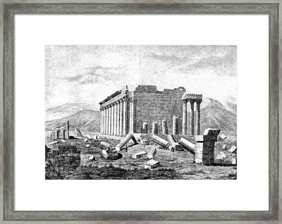 Baalbek Aka Heliopolis, 1845 Framed Print by British Library