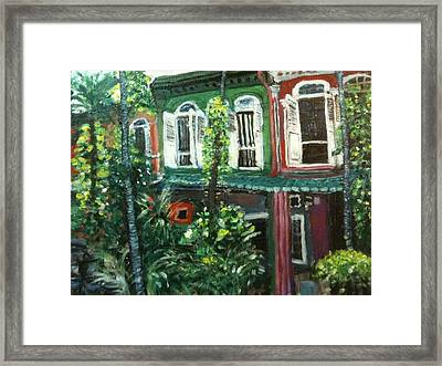 Framed Print featuring the painting Baba Nonya House by Belinda Low