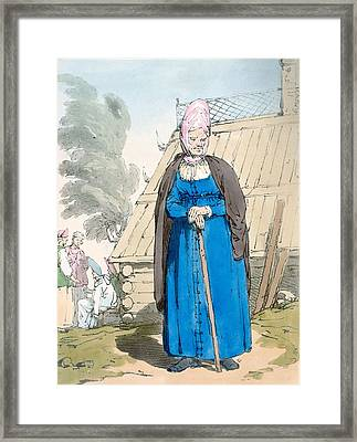 Baba Or Old Woman Framed Print by John Augustus Atkinson