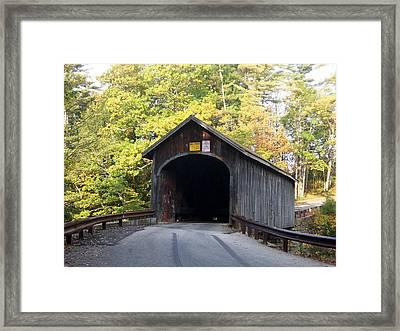 Babbs Covered Bridge Framed Print by Catherine Gagne