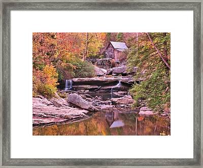 Babcock Grist Mill Framed Print by John Samsen