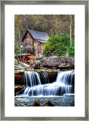 Babcock Grist Mill Framed Print by Mark Bowmer