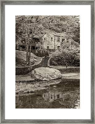 Babcock Sepia  Framed Print by Steve Harrington