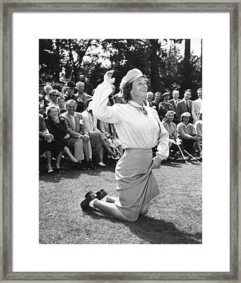 Babe Didrikson Zaharias Framed Print by Underwood Archives