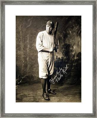 Babe Ruth 1920 Framed Print by Mountain Dreams