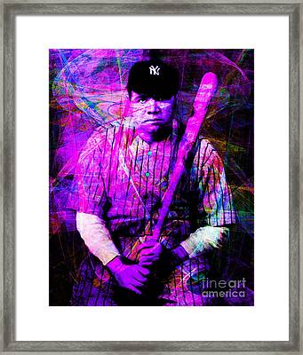 Babe Ruth 20141220 V2 M93 Framed Print by Wingsdomain Art and Photography