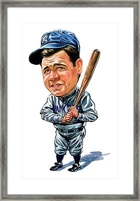 Babe Ruth Framed Print by Art