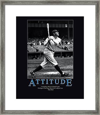 Babe Ruth Attitude  Framed Print by Retro Images Archive