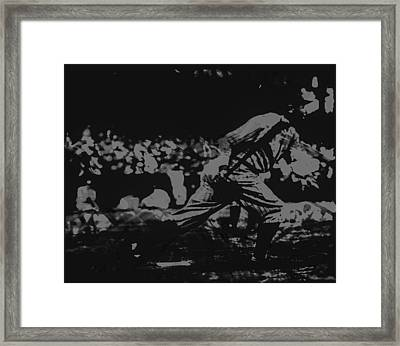 Babe Ruth Framed Print by Brian Reaves
