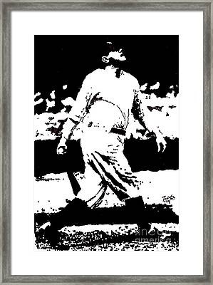 Babe Ruth Drawing Framed Print by Rob Monte