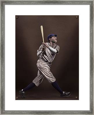 Babe Ruth Framed Print by Jeremy Nash