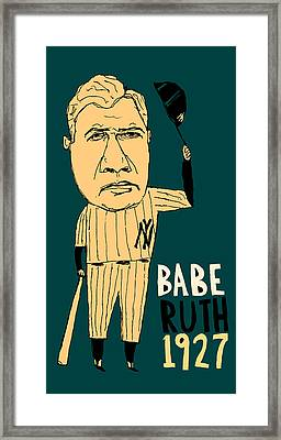 Babe Ruth New York Yankees Framed Print by Jay Perkins