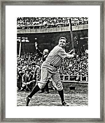 Babe Ruth Painting Framed Print by Florian Rodarte