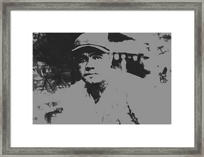 Babe Ruth Pant Splatter Framed Print