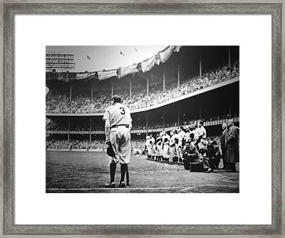 Babe Ruth Poster Framed Print by Gianfranco Weiss
