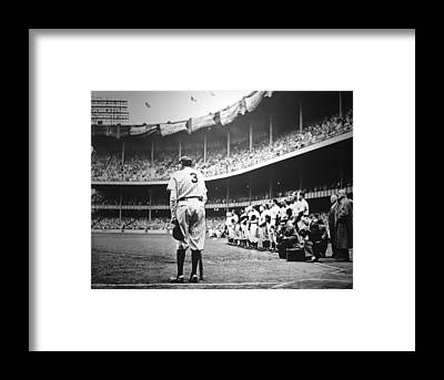 Babe Ruth Framed Prints