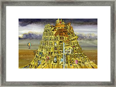 Babel Framed Print by Colin Thompson