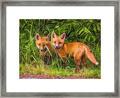 Babes In The Woods 2 - Paint Framed Print by Steve Harrington