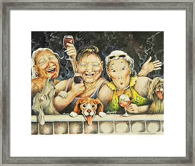 Babes N' Bitchies Framed Print by Shelly Wilkerson