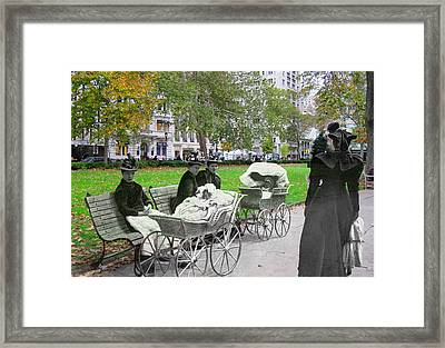 Babies In Rittenhouse Square Framed Print