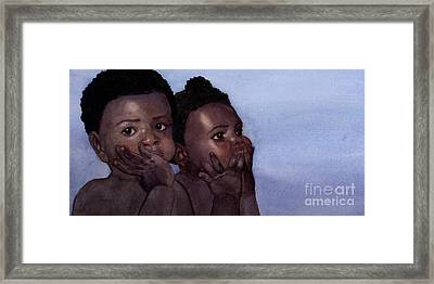Babies Framed Print by Isabella Kung