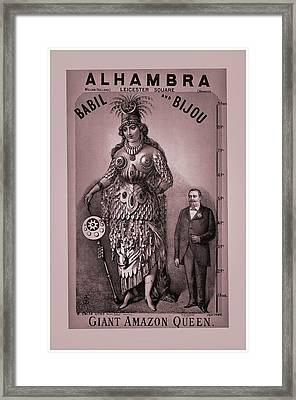 Babil And Bijou - Giant Amazon Queen Framed Print