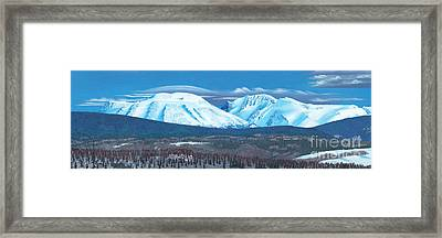 Babine Mountain Range Framed Print