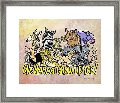 Baby Animals Framed Print