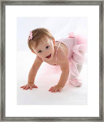 Baby Ballerina Framed Print by Suzi Nelson