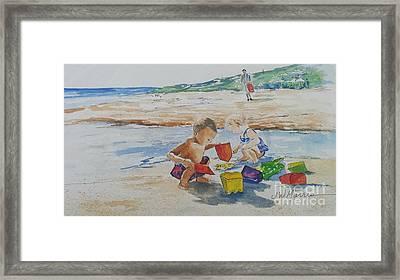 Baby Beach Bums Framed Print