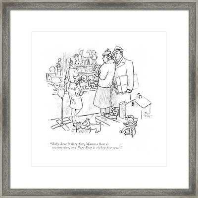 Baby Bear Is Sixty-?ve Framed Print by Alice Harvey
