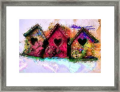 Baby Birdhouses Framed Print