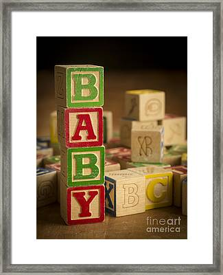 Baby Blocks Framed Print by Edward Fielding