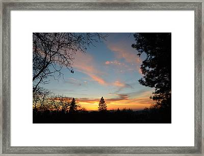 Baby Blue Sky Framed Print