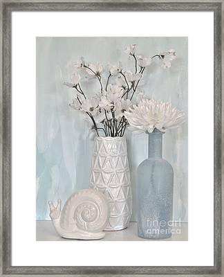 Baby Blue Still Framed Print by Marsha Heiken