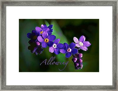 Allowing Framed Print